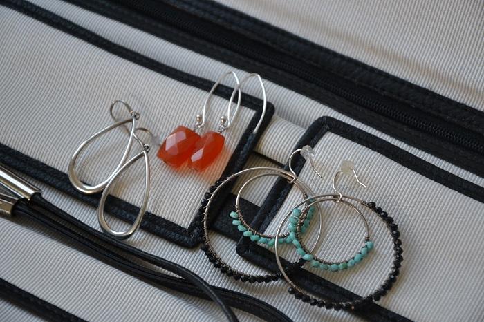 earrings in my jewelry roll