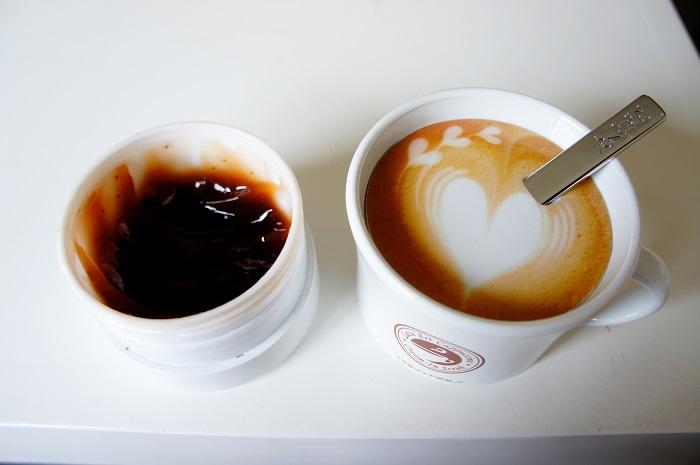 Latte scrub