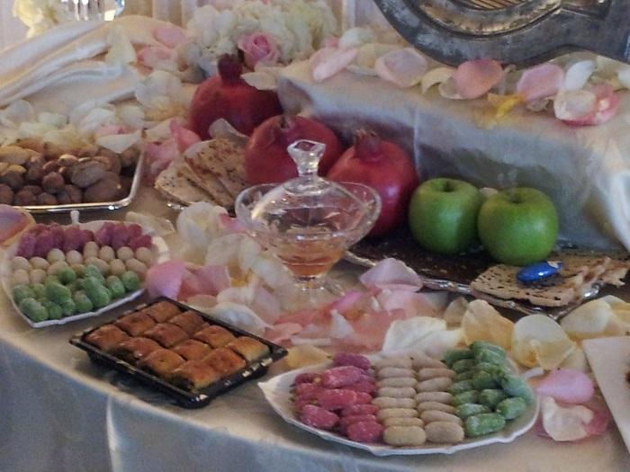 Iranian wedding table