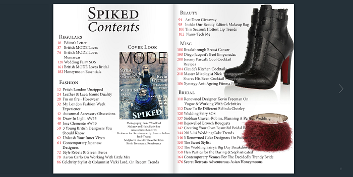 british mode content page
