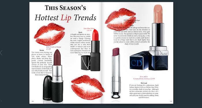 lipstick trends in british mode