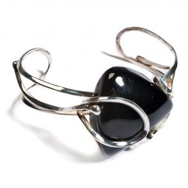 amber and silver cuff jewellery