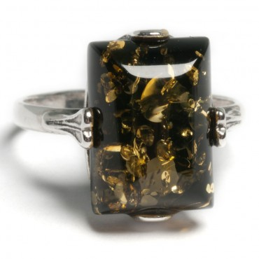 silver and amber ring jewellery