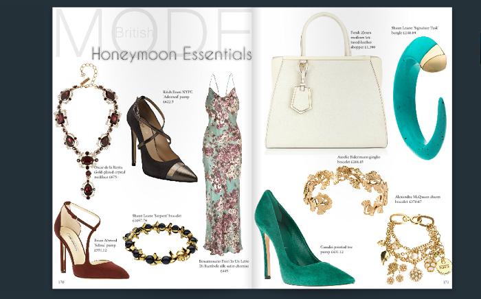Magazine page: Honeymoon essentials