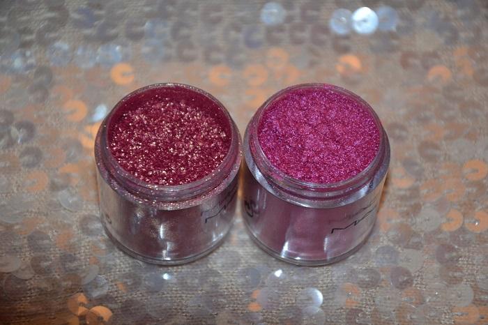 pink shimmer powder