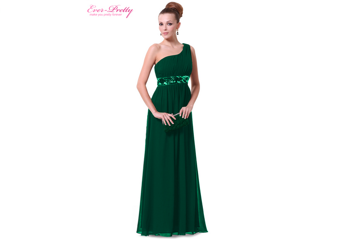 Emerald evening dresses