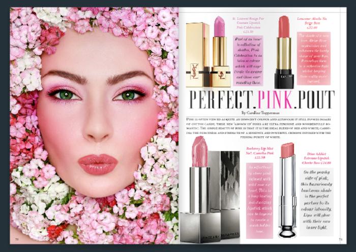 haute couture pink lipstick